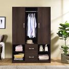 衣櫃 衣櫥 收納【收納屋】雅緻雙門二抽衣櫃-胡桃木色& DIY組合傢俱