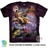 摩達客-預購-(大尺碼4、5XL)美國進口The Mountain 龍群 純棉環保藝術中性短袖T恤