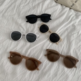 復古風圓形墨鏡女夏季新款韓版網紅太陽眼鏡Ins大框白色遮陽鏡潮