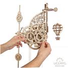 Ugears Aero 飛行機械鐘 (送砂紙) 3D 木製機械模型 掛鐘 裝飾展示品 烏克蘭 交換禮物