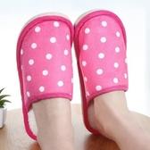 拖鞋 室內拖 絨毛拖鞋 情侶拖 木地板 毛拖鞋 加絨 毛毛拖鞋 圓點棉拖鞋【Z186】米菈生活館