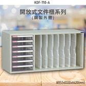 【100%台灣製造】大富KDF-710-A 開放式文件櫃 效率櫃 檔案櫃 文件收納 公家機關 學校 辦公收納 耐重