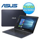ASUS 華碩 E402NA-0082BN3450 14吋 超值文書筆電 紳士藍