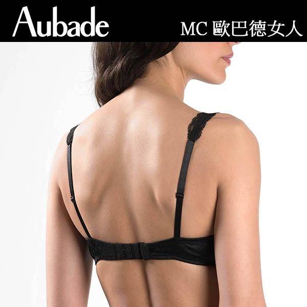 Aubade-歐巴德女人B-D復古網織有襯內衣(黑)MC