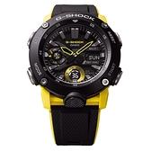 CASIO 卡西歐 G-SHOCK 碳纖維核心防護雙顯計時手錶 GA-2000-1A9