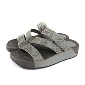 HUMAN PEACE 拖鞋式涼鞋 灰色 燙鑽 厚底 女鞋 6817-N110 no151