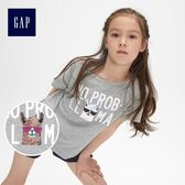 Gap女童 可翻轉亮片短袖T恤 466866-麻灰色