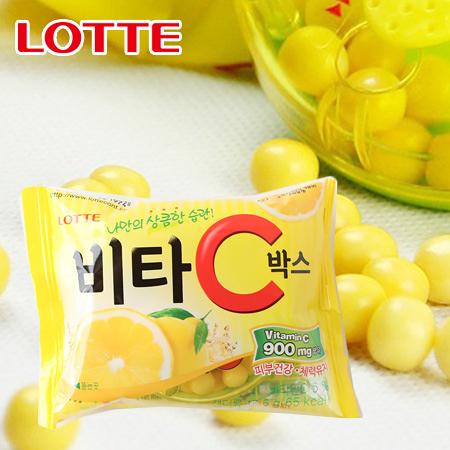 韓國 lotte 樂天 VC 檸檬糖 17.5g 糖果 檸檬糖果 旅韓必買 韓國糖果 樂天檸檬糖 零食