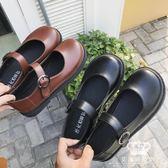娃娃鞋 大頭鞋女韓版復古可愛圓頭皮帶扣小皮鞋 艾米潮品館