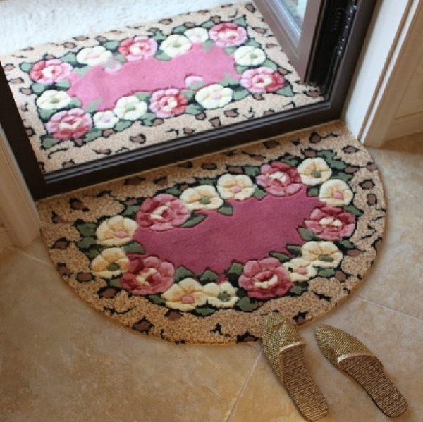 半圓吸水地墊門墊臥室廚房衛生間門口腳墊進門小地毯浴室防滑墊子【居享優品】