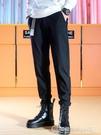 馬丁靴搭配褲子 男寬鬆 直筒 垂感 小西褲 韓版加絨休閒褲 圖拉斯3C百貨