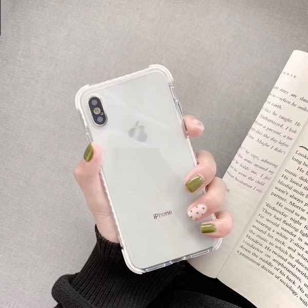 【SZ25】純色透明 四角防摔 iphone XS MAX手機殼 iphone XR XS手機殼 iphone 8plus手機殼 iphone 6s plus手機殼