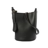 【BURBERRY】Haymarket內格紋皮革斜背水桶包(黑色) 4057155 BLACK