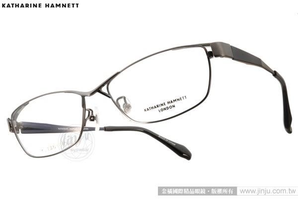 KATHARINE HAMNETT 眼鏡 KH9133 C03 (黑-金) 日本工藝鈦金屬系列別緻款 # 金橘眼鏡