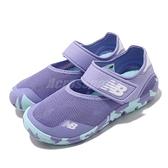 New Balance 涼拖鞋 208 NB 紫 藍 童鞋 中童鞋 大童鞋 女鞋 涼鞋 魔鬼氈 運動鞋【ACS】 YO208VL2W