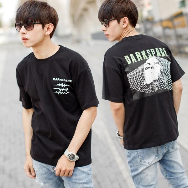 T恤 DARKSPACE立體人像圖騰短T【NB1023J】