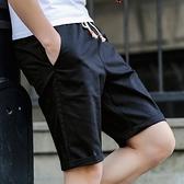 快速出貨 夏季 休閒褲短褲男士寬鬆純棉沙灘褲子潮流五分運動七分大褲衩