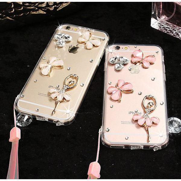 蘋果 iPhone12 Pro Max 12Pro 12Mini 蘋果手機殼 水鑽殼 客製 手做 蝶舞芭蕾