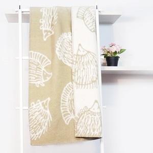瑞典Klippan有機羊毛毯--刺蝟先生(咖啡)