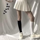 夏天鵝絨白色薄款小腿襪透氣中筒襪JK長筒襪及膝襪 大宅女韓國館 遇見初晴