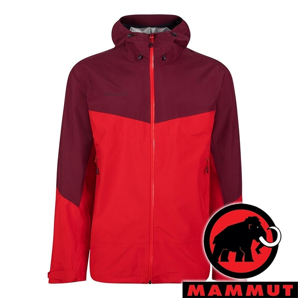 【MAMMUT 長毛象】Convey 男 GT單件式連帽外套『岩漿紅/梅洛酒紅』1010-27840 外套 冬季 保暖 禦寒