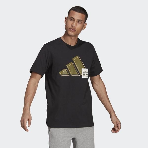 Adidas Short Sleeve Graphic Tee 男款 短袖上衣 黑款 GU3643 【KAORACER】