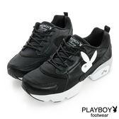 PLAYBOY  韓妞Style 個性休閒鞋-黑