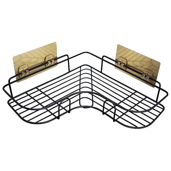 收納架 無痕貼不銹鋼 瀝水架 轉角 邊角 不鏽鋼 廚房 三角架 浴室 免打孔置物架【J077】MY COLOR