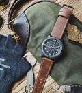 領翔手錶時尚潮流男士皮帶錶歐美范潮男軍錶大錶盤復古飛行員手錶 3C優購