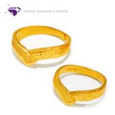 【YUANDA】『永遠的愛』黃金戒指、情侶對戒 活動戒圍-純金9999國家標準