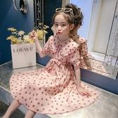 女童雪紡裙 洋裝夏裝2020新款韓版兒童夏季裙子女大童洋氣雪紡長裙