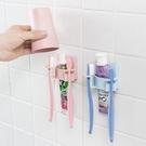 【BlueCat】浴室無痕雙邊牙刷牙膏架 無痕掛勾