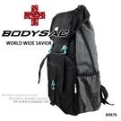 黑色機能運動休閒後背包 採用專業耐磨&YKK大拉頭  AMINAH~【BODYSAC B9878】
