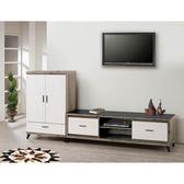 【森可家居】森白8 5 尺客廳L 櫃8SB208 1 木紋 電視展示櫃北歐工業風MIT