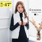■保暖舒適舖棉材質 ■優雅氣質擋風立領 ■別緻的防風四合扣 ■無袖設計搭配有型 ■雙側實用口袋