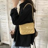 特賣小方包新款菱格雙鏈條包質感小方包時尚百搭側背包斜背包流浪包包女韓流時裳