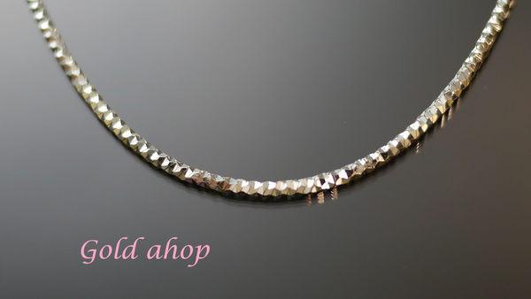 ☆ gold shop ☆╯義大利 585 白K金 男項鍊 長度60公分 [ kn 074 ]-4.70