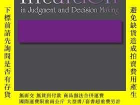 二手書博民逛書店Intuition罕見In Judgment And Decision MakingY256260 Pless