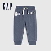 Gap嬰兒 Gap x Disney 迪士尼系列聯名Logo休閒褲 843674-灰藍色