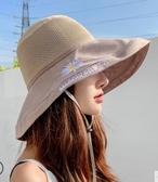 小雛菊漁夫帽女夏天