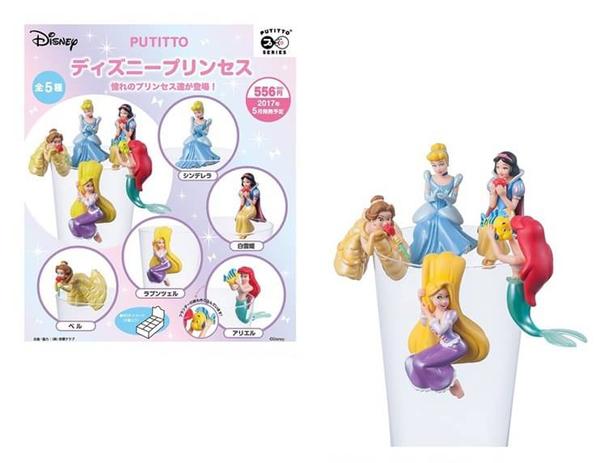 【卡漫城】 Disney 公主 杯緣子 五選一 ㊣版 公仔扭蛋 仙度瑞拉 樂佩 美女 灰姑娘 魔髮奇緣 L2