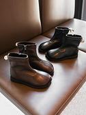 2020年秋冬款冬季新款加絨女童靴子短靴軟皮鞋兒童鞋子公主馬丁靴 艾瑞斯