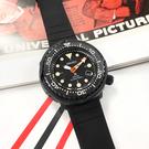 SEIKO 精工 / V157-0DL0C.SNE577P1 / PROSPEX 限量款 鮪魚罐頭 太陽能 潛水錶 日期 矽膠手錶 黑色 47mm