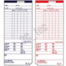 考勤卡卡片 83x189 四欄 切斜角 台灣製造 [100入/包] 打卡鐘 出勤卡  ~非 象球牌 萬年牌 愛德 加新