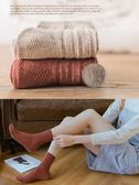 襪子女中筒韓版學院風日系厚款加絨韓國毛線春秋季長筒秋冬季聖誕節提前購589享85折