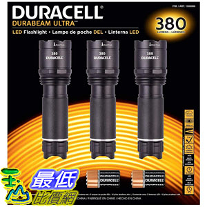 [8美國直購] 手電筒 Duracell Durabeam Ultra Tactical High-Intensity Compact LED Flashlight (380 Lumens 3PK Black)