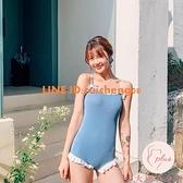新款時尚夏季泳衣女吊帶比基尼度假日系可愛少女【大碼百分百】