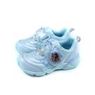MoonStar 冰雪奇緣 休閒運動鞋 電燈鞋 童鞋 水藍色 中童 DNC12719 no422