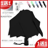 【買一送一】40吋自動黑膠傘-遮光/遮雨_折疊傘 / 抗UV傘遮陽傘洋傘-自動傘-晴雨傘+1