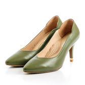 GREEN PINE 古典氣質高跟鞋-綠色